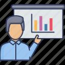 graph, presentation, analytics, bar, chart
