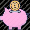 piggy, bank, cash, money, savings