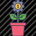plant, growth, business, profit