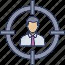 target, focus, employee, client