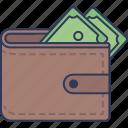 wallet, purse, cash, money