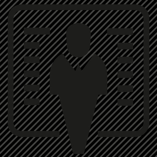 business man, people, presentation icon