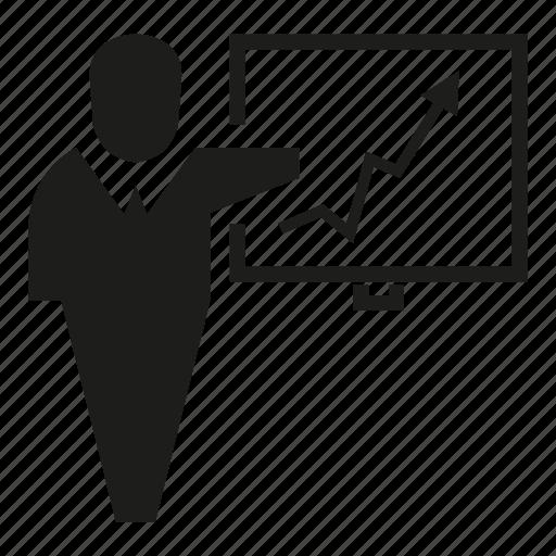 chart, graph, office, organization, white board icon