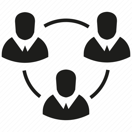 diagram, group, loop, organization, people icon