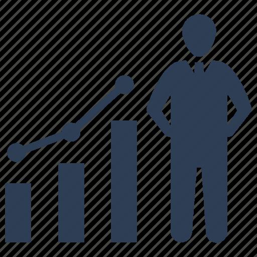 business, growth, profit, success icon
