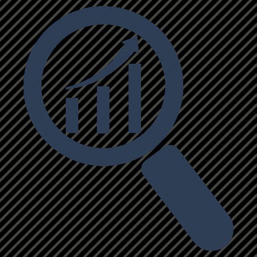 analysis, monitoring, research icon