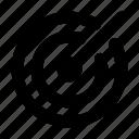 focus, goal, management, purpose, target icon