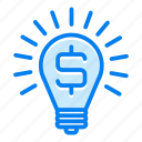 creativity, idea, lamp, light icon