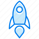 launch, rocket, socket, spaceship, startup icon