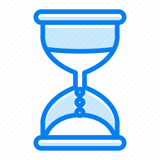 hourglass, timepiece, timer icon