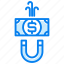 banking, finance, magnet, money, payment icon