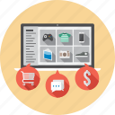 business, finance, flat, icon, marketing, money, shopping icon