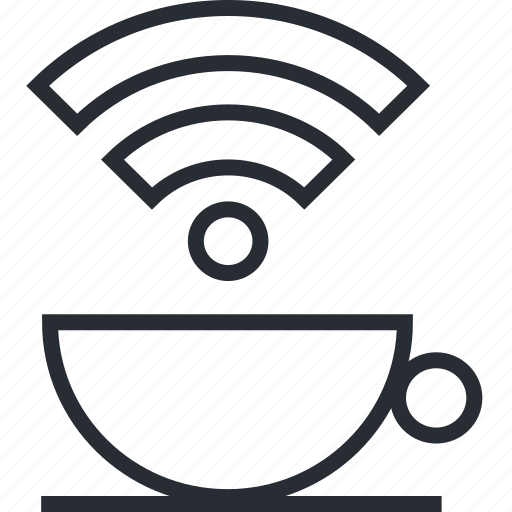 communication, free, internet, line, social media, thin, wi fi icon