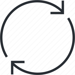 app, arrow, line, refresh, thin, update icon