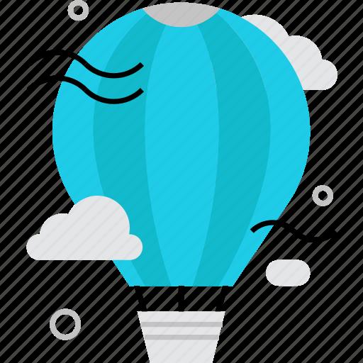 aerostat, air, balloon, exploration, flight, travel, view icon