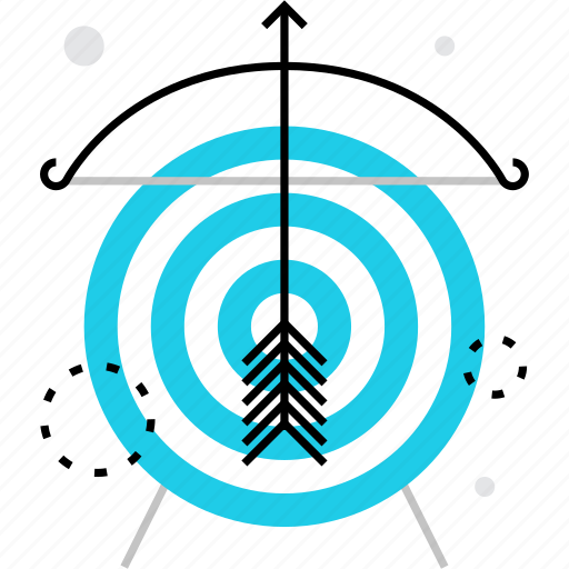 aim, archery, goal, market, mission, planning, target icon