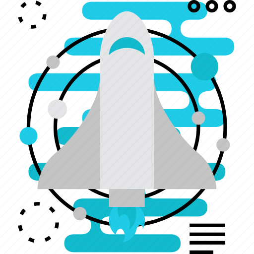 air, flight, launch, plane, shuttle, start, up icon