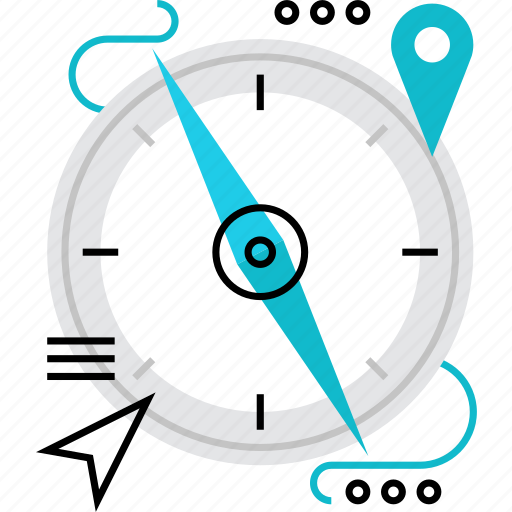 Compass, direction, location, navigation, orienteering, touristic, travel icon - Download on Iconfinder