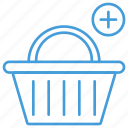 add, basket, blue, cart, checkout, shopping, ui icon