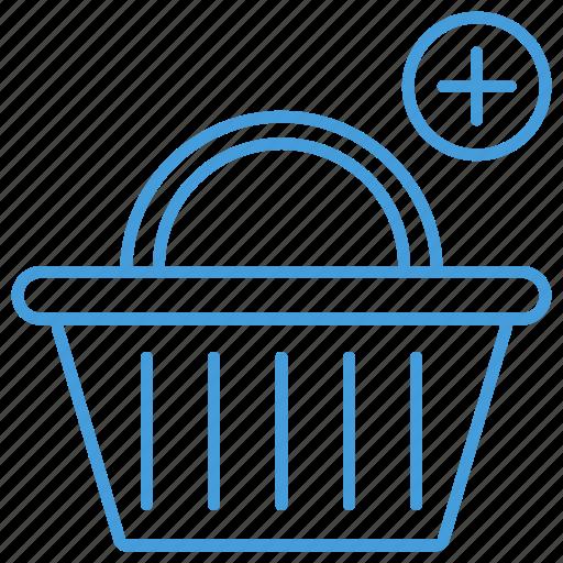 add, basket, blue, cart, checkout, shopping, ui icon