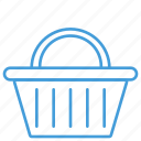 basket, cart, check out, outline, shopping, ui icon