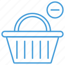 basket, cart, checkout, online, remove, shopping, ui icon