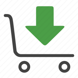 arrival, boxes, download, goods, handtruck, storage, warehouse icon