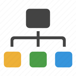 chart, connections, flow, network, organization, structure icon