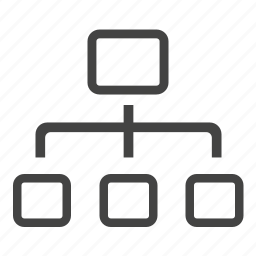 chart, connections, flow, organization, structure icon