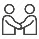 agreement, business, cooperation, deal, handshake, meeting, partners icon