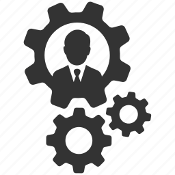 business, businessman, cogs, gears, profile settings, support icon