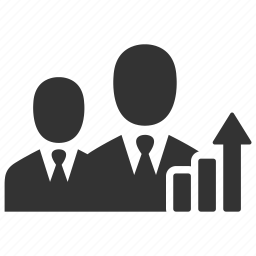 businessmen, chart, growth, increase, report, statistics icon