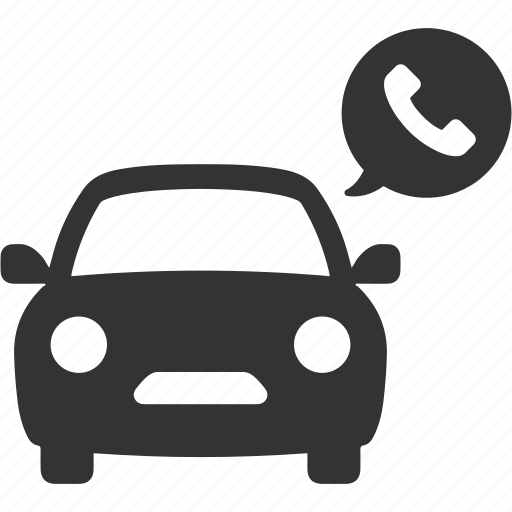 automobile, call, phone, taxi, transport, transportation icon