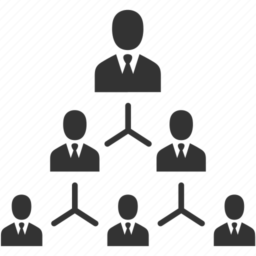 business, business people, hierarchy, management, organization, people, structure icon