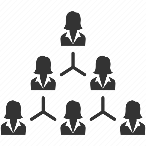 business, business women, hierarchy, management, organization, people, structure icon