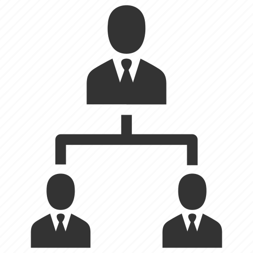 business, hierarchy, management, organisation, organization, people, structure icon