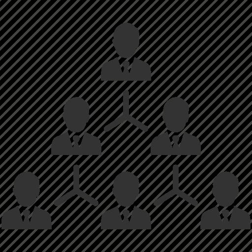 businessmen, hierarchy, management, organisation, organization, people, structure icon