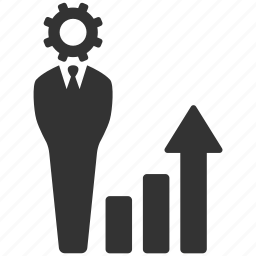 business, businessman, chart, graph, increase, management, statistics icon