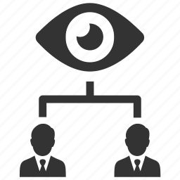 businesmen, business, eye, hierarchy, management, privacy, supervision icon