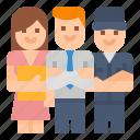 company, employees, employer, team icon