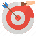 management, marketing, strategy, targeting icon