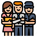 company, employees, employer, team icon