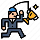 business, employee, incentive, motivate icon