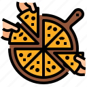 business, pizza, resource, sharing icon