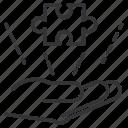 business, component, detail, hand, part, piece, puzzle icon