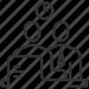 business, consultation, conversation, discussion, man, negotiations, talk icon