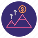 challenge, dollar, mountain, pyramid