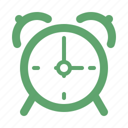 alarm clock, reminder, time management icon