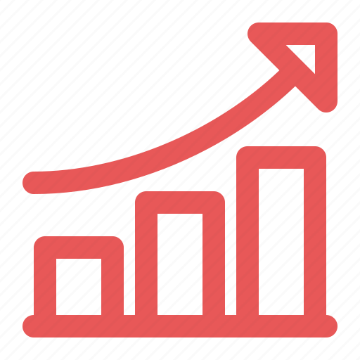 analytics, business growth, graph icon