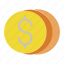 business growth, coins, money, profit icon